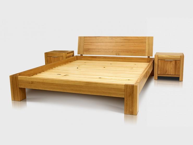 Łóżko dębowe BEN