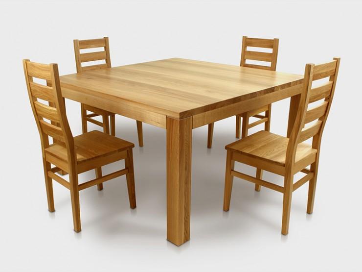 Stół dębowy  SQUARE